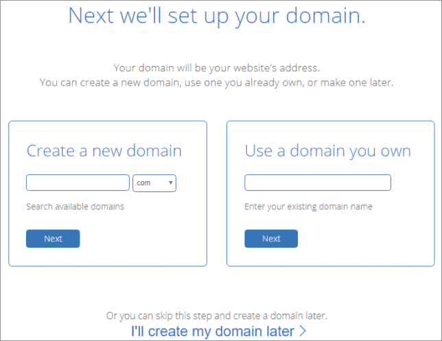 Bluehost Domain Name Select