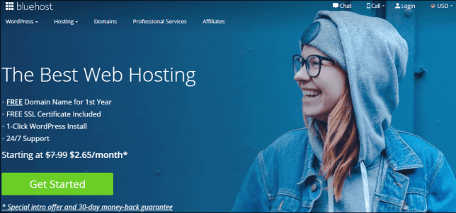 Bluehost Black Friday homepage
