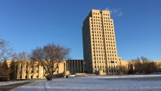 It's cold outside but debate is starting to heat up on agricultural issues in the region's state capitols, including at Bismarck, N.D. Photo taken Jan. 9, 2015, in Bismarck, N.D., at the North Dakota State Capitol.  (Forum News Service/Agweek/Mikkel Pates)(Embargo to Jan. 20, 2015, 1 a.m.)