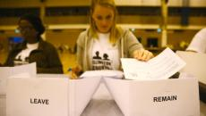 A workers counts ballots after polling stations closed in the Referendum on the European Union in Islington. REUTERS/Neil Hall