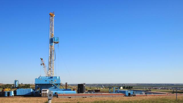 A drilling rig, pictured Wednesday, June 22, 2016, in Williston, N.D., moved into Williams County, bringing the statewide rig count to 30. Williams County, which once had as many as 48 rigs, was down to zero until this rig moved in last week. Amy Dalrymple/Forum News Service