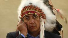 Dave Archambault II, chairman of the Standing Rock Sioux tribe, waits to give his speech against the Energy Transfer Partners' Dakota Access oil pipeline during the Human Rights Council at the United Nations in Geneva, Switzerland September 20, 2016. REUTERS/Denis Balibouse
