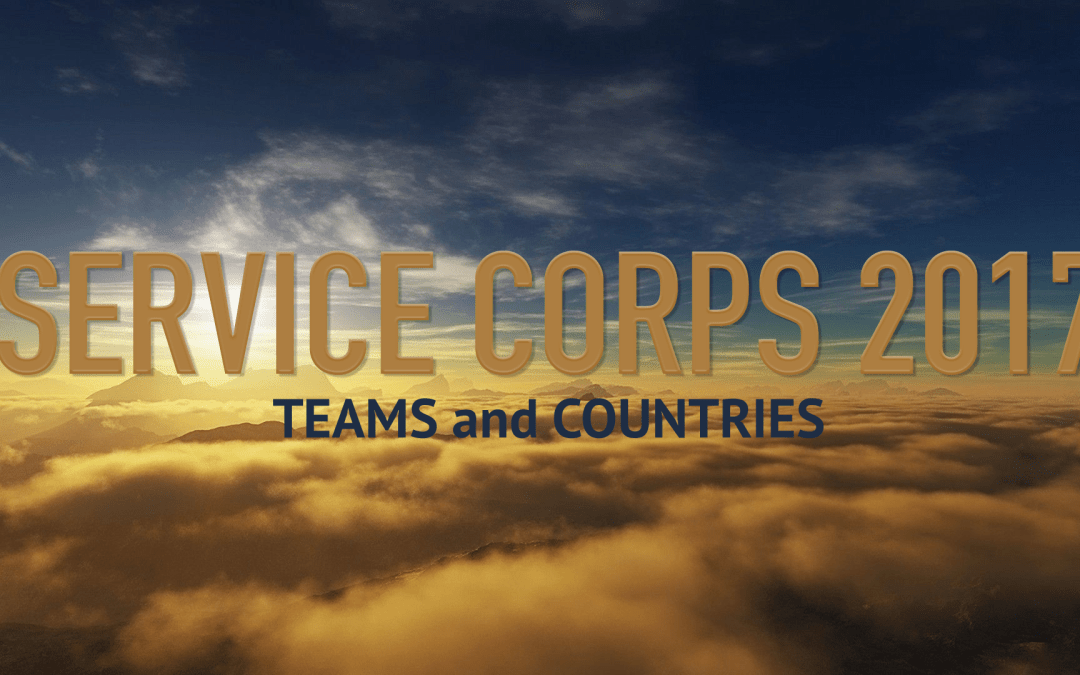 Service Corps 2017 Teams and Countries