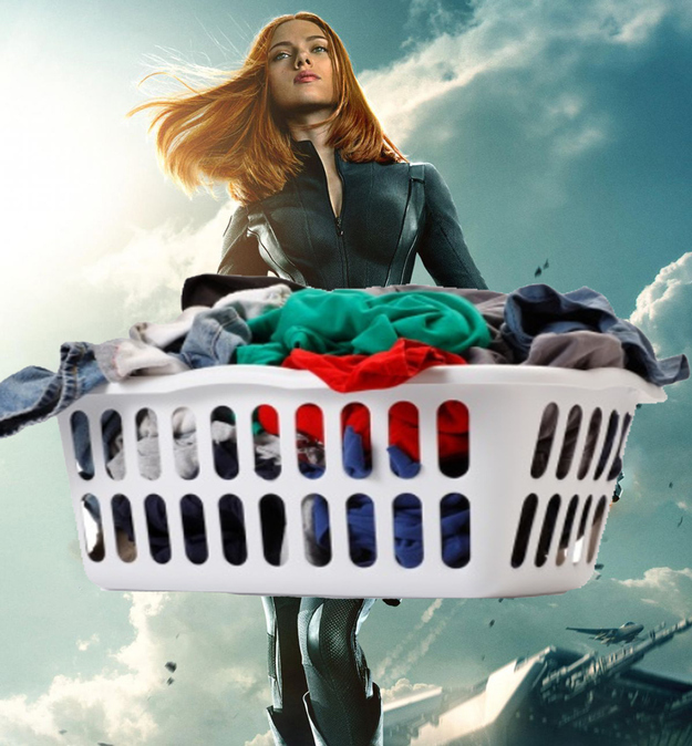 She could carry a lot of laundry.