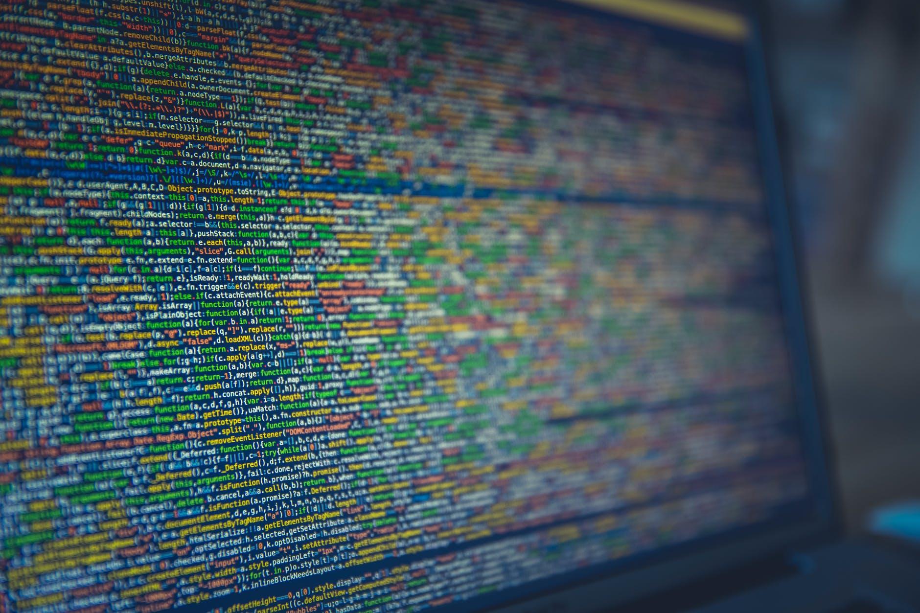 technology computer desktop source code