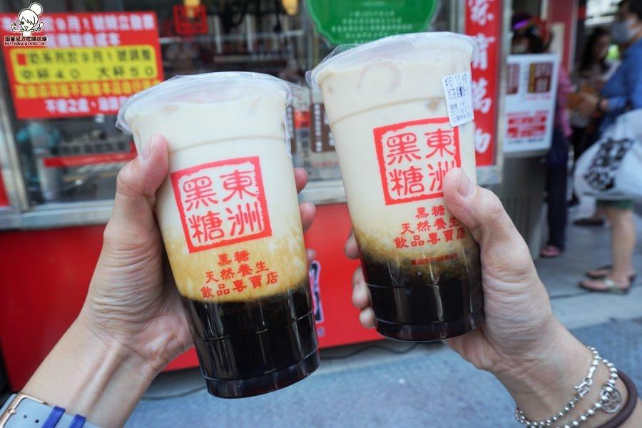 來台南玩就是排隊排隊再排隊,超人氣東洲黑糖奶舖 X 台南必吃美食