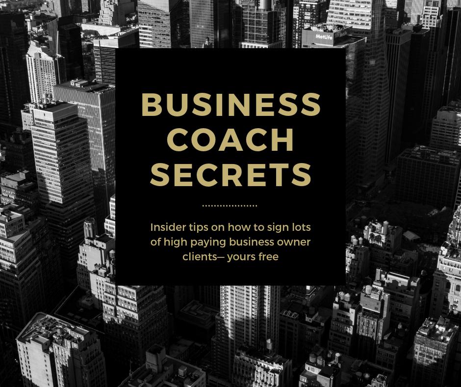 business coach secrets