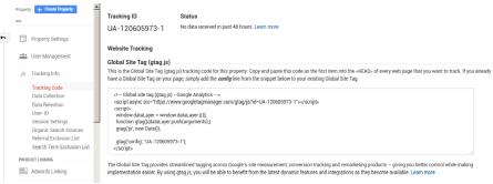 Google Analytics - Tracking ID