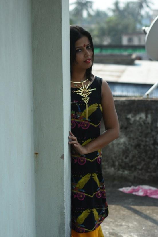 Fashion Blogger Kolkata - Mahalaya OOTD