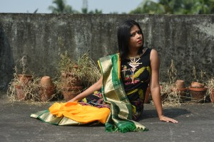 Sayeri Diary - Wearing Saree