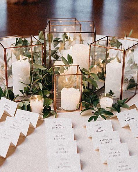 أفكار سنتر بيس لحفلات زفاف