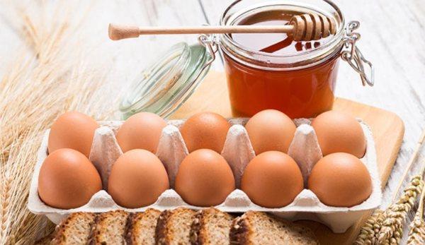 خلطة العسل والبيض