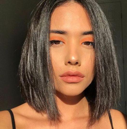 ظلال عيون برتقالية