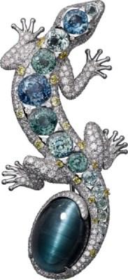 بروش بتصميم سحلية من الأحجار الكريمة والماس من كارتييه Cartier