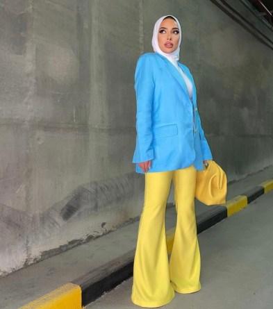 عائشة العقيل بإطلالة خريفية - صورة من حسابها على انستجرام