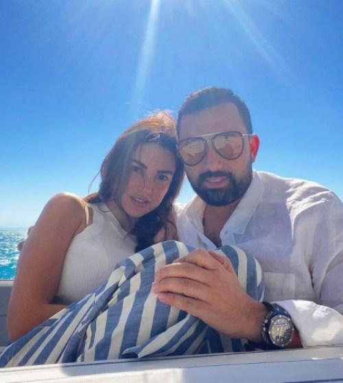درة وزوجها هاني سعد في شهر العسل - الصورة من حسابها على إنستجرام