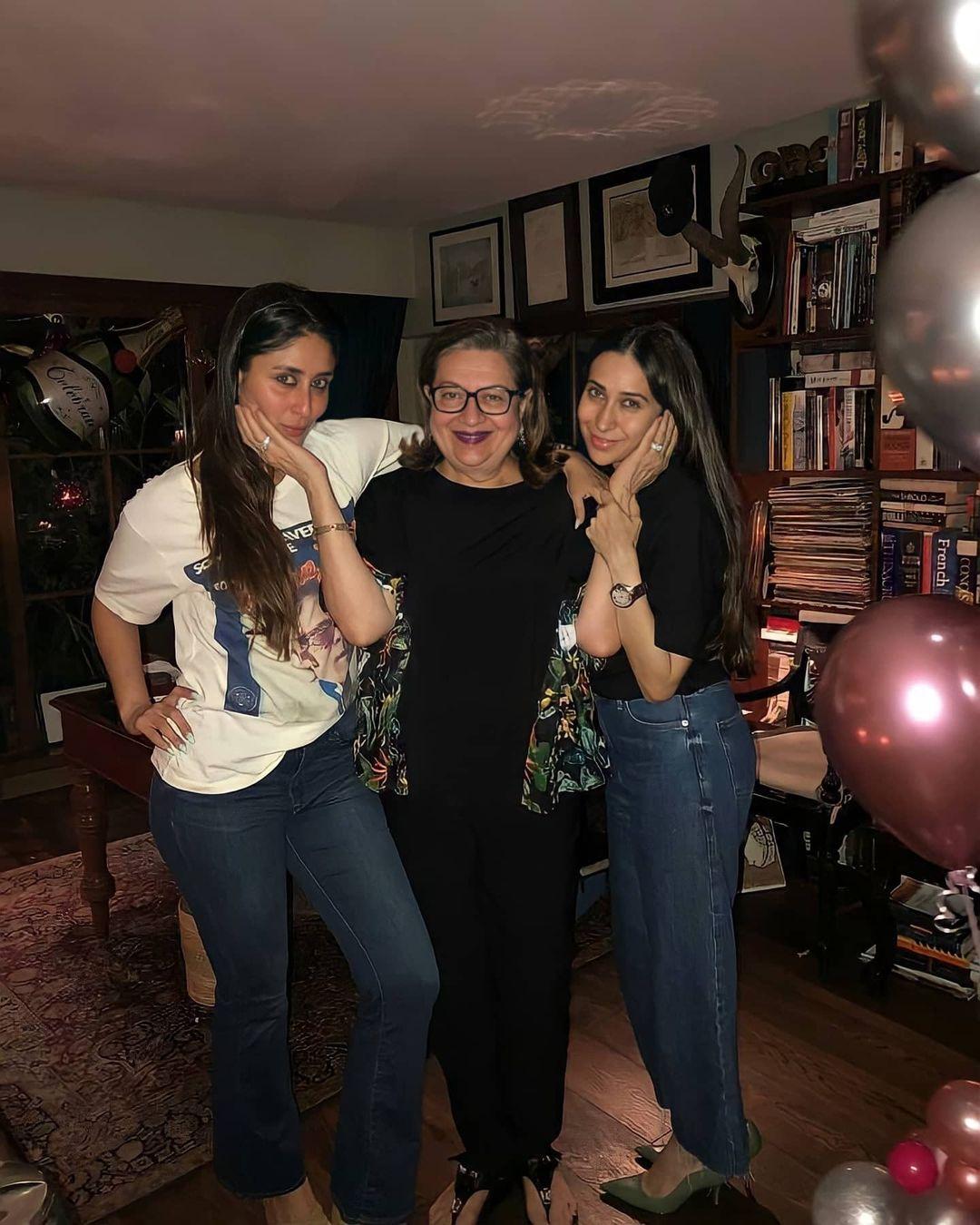 كارينا مع والدتها وشقيقتها-الصورة من أنستغرام