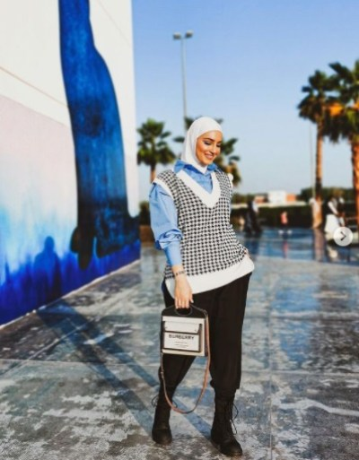 Casual look from Dalal Al-Doub in a Fest Karuh