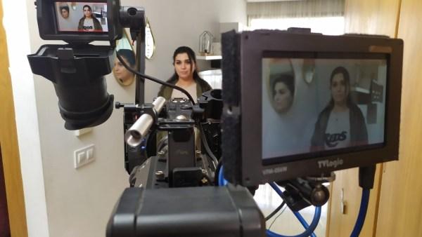Snapshot during filming
