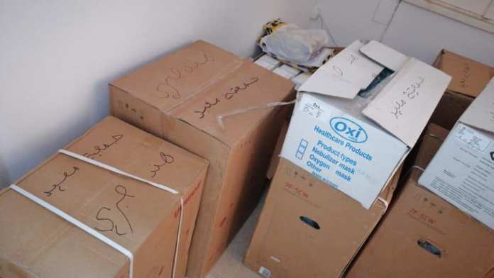 The medical equipment that Hend Sabry sent - Photo from Hind's Facebook site.jpg