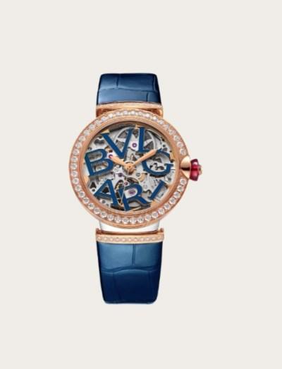 ساعة من الجلد من بولغري Bvlgari