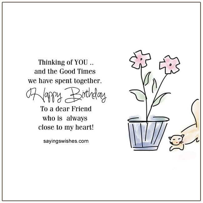 friend birthday wishes for