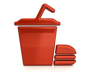 Orange fast food icon