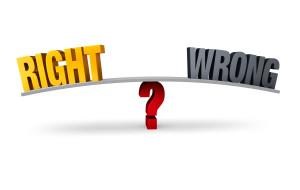 Choosing Between Right or Wrong