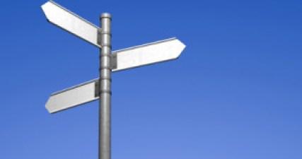 Blank signpost 3 (clip path)