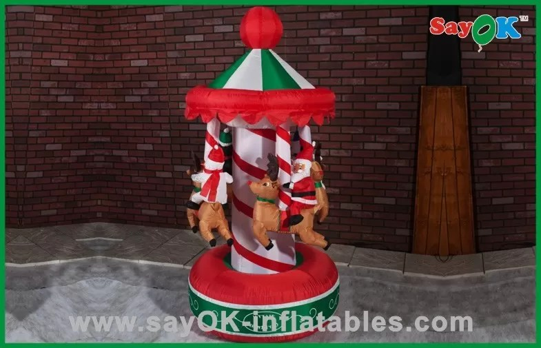 China Funny Christmas Carousel Inflatable Holiday Decorations Air N Inflatables Supplier