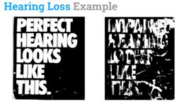 hearing loss looks like