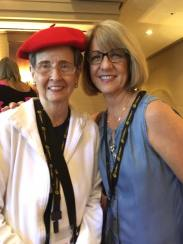 The SayWhatClub offers international online support for people with hearing loss, as well as face to face time at our conventions. Here are two happy SWC'ers having fun at our annual convention.