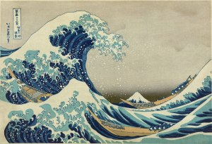 The Great Wave off Kanagawa -Hokusai. A depiction of turbulence