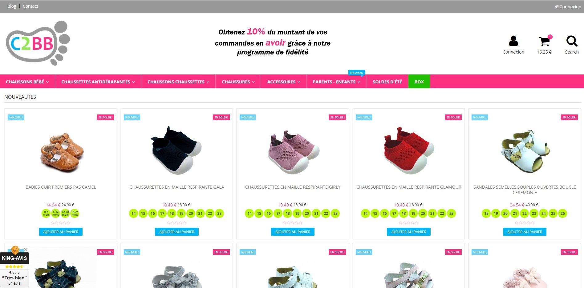 c2bb chaussures chausson chaussette pour bébé et enfant à Toulouse