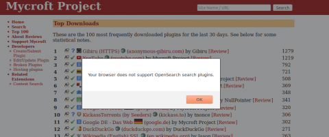 Your browser does not support OpenSearch search plugins