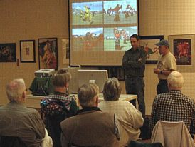 Mike Bishop (right) introduces Jeffery Morse. (Photo: Ian Lessing)
