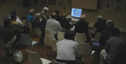 Jeffery Morse demonstrates Apple's Motion program at the November meeting. (Photo: ian lessing)