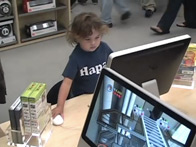 Young iMac user