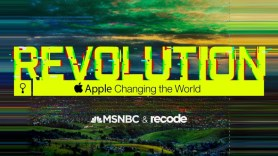 Program Banner with the word Revolution in ALL Caps followed by Apple's logo and the words Apple Changing the World