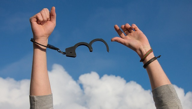 free from handcuffs