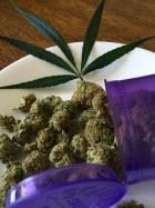 Marijuana on plate