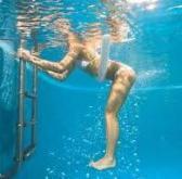 girl doing aquatic therapy