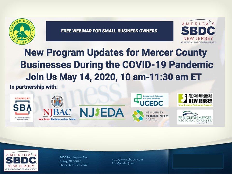 May 14, 2020 Webinar: New Program Updates for Mercer ...