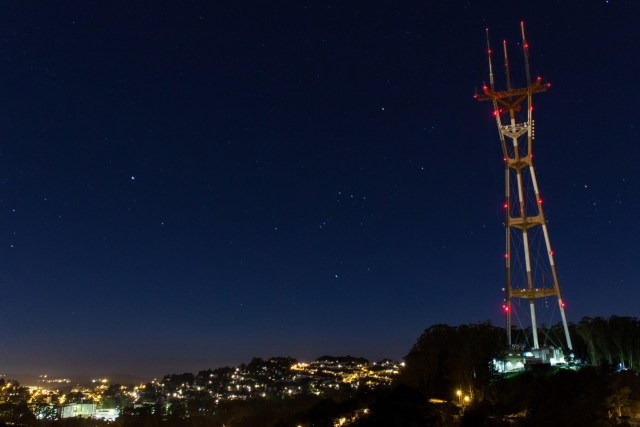 Sutro Tower at night