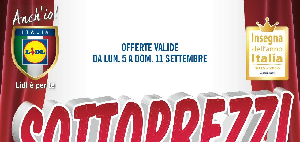Volantino Lidl Sottoprezzi dal 3 al 9 Ottobre 2016