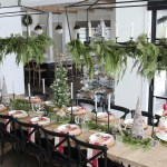 Farmhouse Christmas Garland Tablescape Styled By Kasey