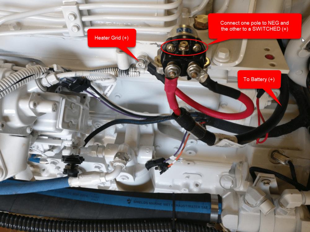 medium resolution of simple cummins marine grid pre heater control setup diagram