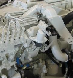 cummins marine 450c throttle cable bracket [ 1265 x 1009 Pixel ]