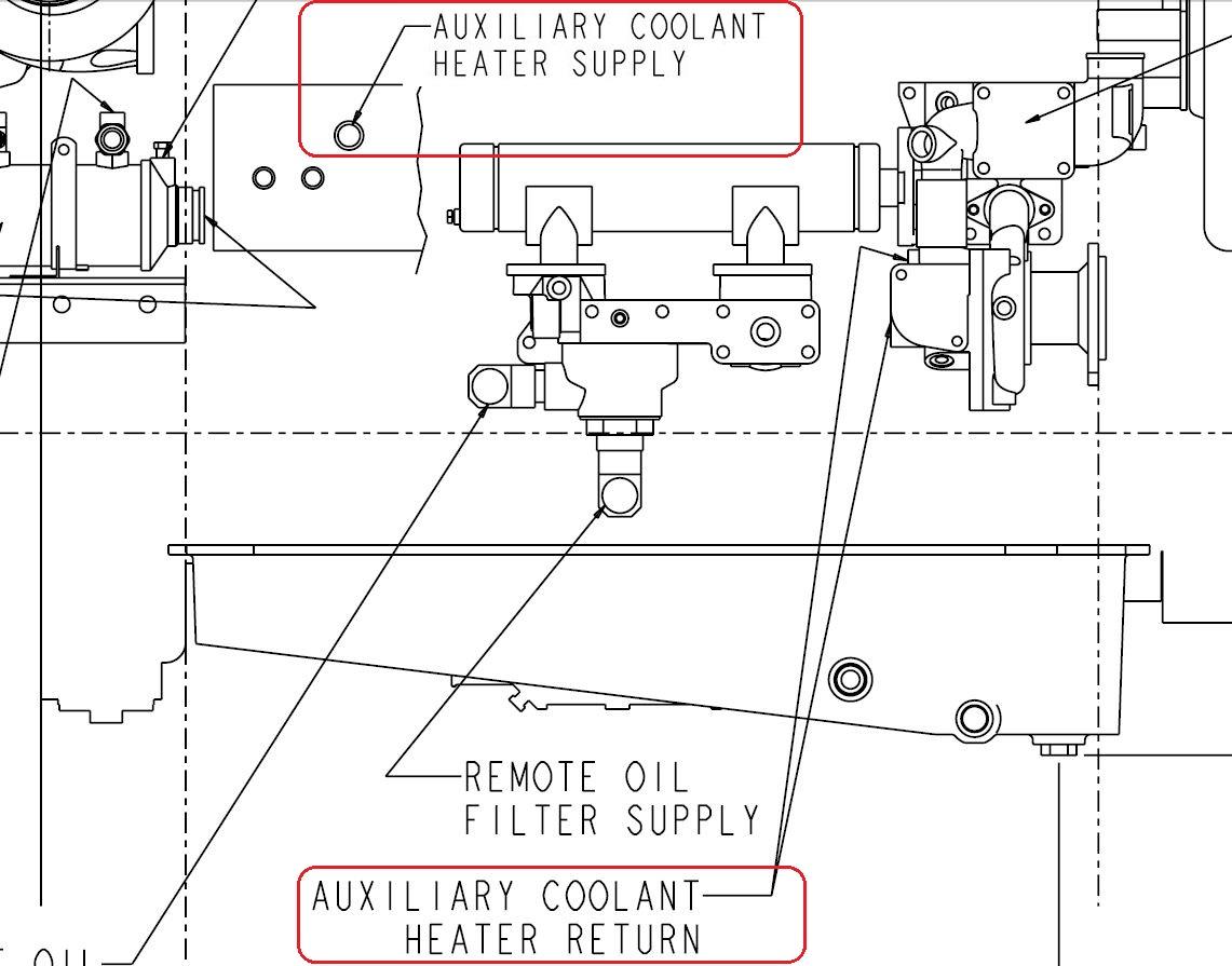 hight resolution of qsm 11 heater supply ports