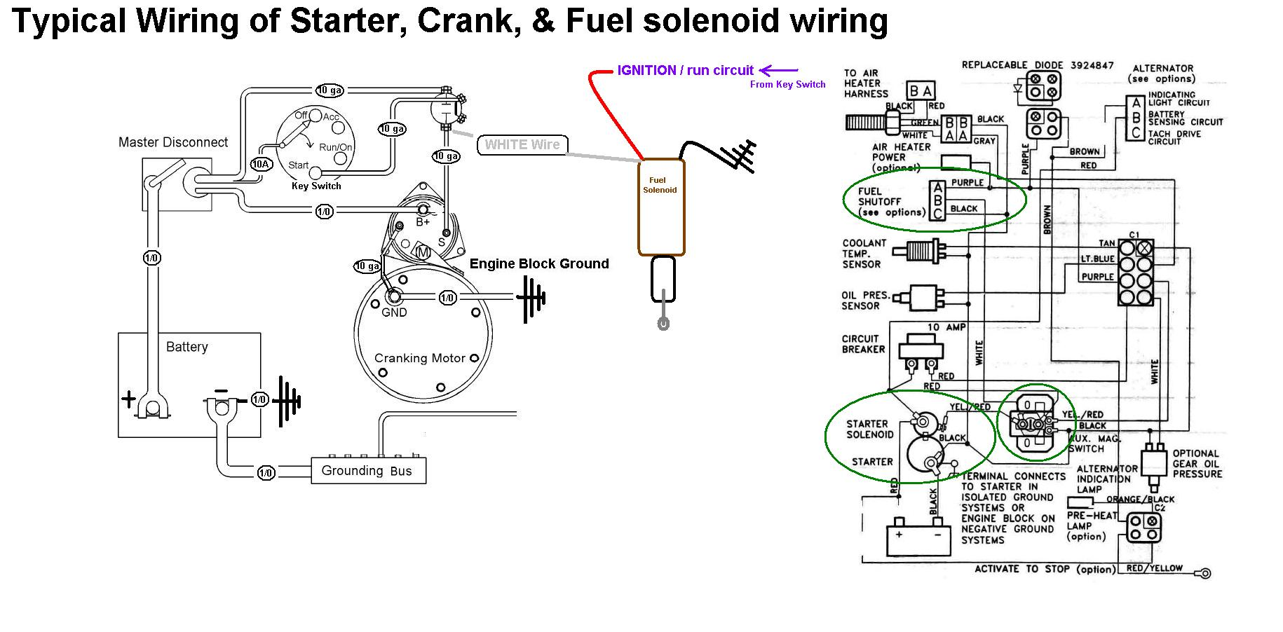hight resolution of starter crank u0026 fuel shutoff solenoid wiring seaboard marinestarter crank u0026 fuel